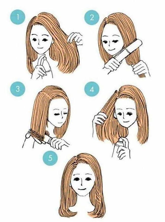 hairstyles long hair with bangs